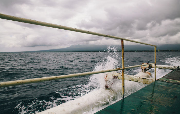 Boat Clouds Cloudy Cloudy Day Deck Horizon Over Water Island Ocean Onboard Outdoors Philippines Rippled Scenics Sea Seascape Ship Splash Water Wave Blue Wave The Great Outdoors - 2016 EyeEm Awards The Great Outdoors With Adobe Lost In The Landscape Connected By Travel