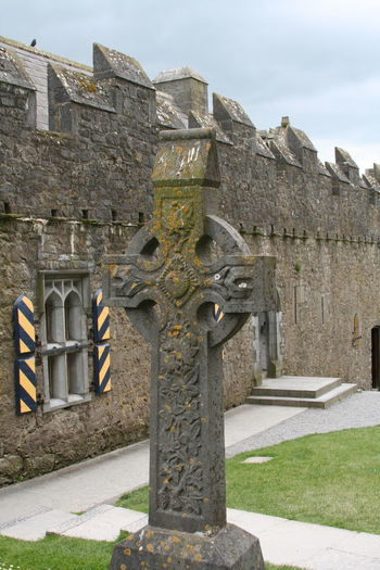 Architecture Built Structure Cultures Day Historical Building Ireland Irish No People Outdoors Religion Rock Of Cashel Sky Statue Travel Travel Destinations