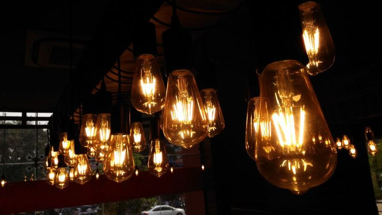 No Filter Illuminated Lighting Equipment Electricity  Light Bulb No People Modern Low Angle View Hanging Filament Close-up Luxury Indoors  Day Structured What Buyers Want Check This Out Food And Drink Celebration Beautifully Organized Focus In The Middle at Pune India