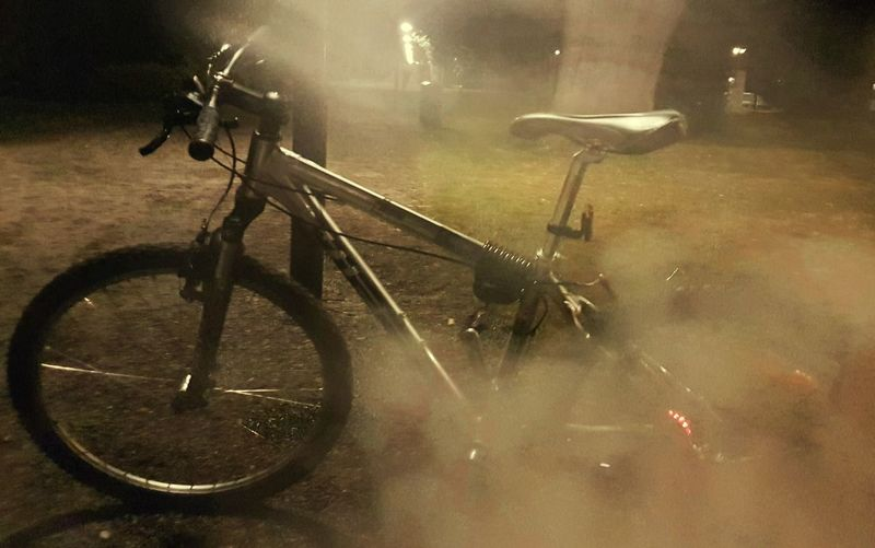 Photo♡ Low Angle View Night Life 🌛 EyeEmNewHere EyeEm Best Shots Belgium♡ Nightphotography EyeEm Diversity Photography Is My Escape From Reality! Close-up Outdoors Mountain Bike No People Wheel Night Cycling Spoke Tree_collection  Beauty In Nature