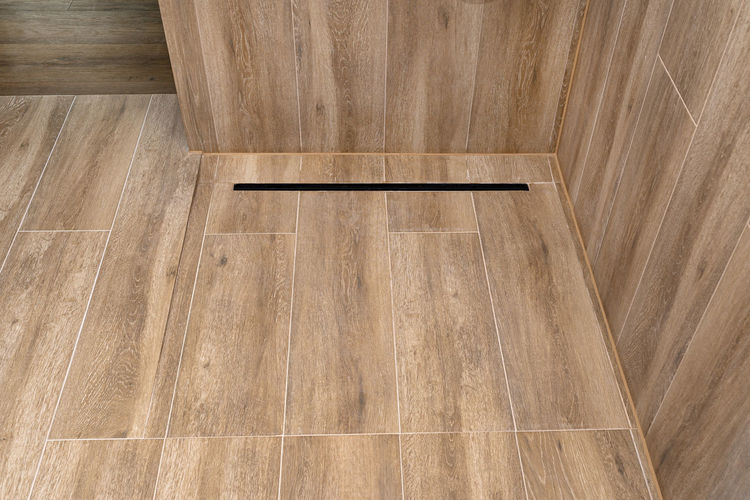 Low angle view of hardwood floor at home