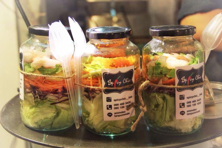ArtBox Bangkok- Salad Jar- Had one of these for dinner, awesome local homemade salad dressing!👍😊 TTravelingBBangkokTThe Traveler - 2015 EyeEm AwardsaArtboxbangkoksStreetphotographyBBangkok Thailand.gGetting InspiredfFoodporn