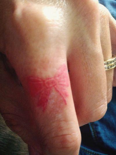 My beautiful pink ribbon tattoo. ??????