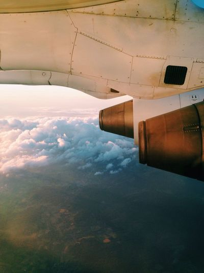 Homebound. Plane Flying Goinghome Travel Cloud Clouds Sky Dreamy Sky And Clouds