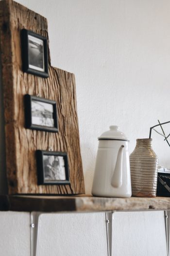 Cafe Wall - Building Feature No People Architecture Indoors  Lighting Equipment Home Interior Wood - Material Built Structure Frame Picture Frame Domestic Room Hanging Retro Styled Still Life Container Table Technology Seat Shelf Electric Lamp