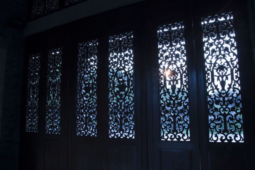 Window Architecture Building Built Structure Chinese Chinese Culture Chinese Window Curtain Day Decoration Design Floral Pattern Glass Glass - Material Indoors  Lighting Equipment Low Angle View No People Pattern Place Of Worship Side By Side Stained Glass Wall - Building Feature Window