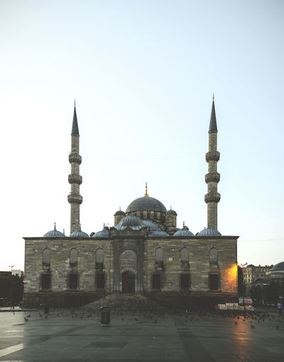 Architecture Birds Building Exterior Dome Dove Famous Place International Landmark Islam Istanbul Mornning  Mosque Place Of Worship Religion Spire  Spirituality Sun Rise Tourism Tower Turkey