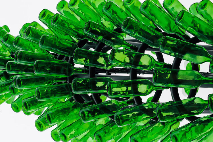 Green Color Close-up No People Still Life Large Group Of Objects Indoors  White Background Studio Shot Plastic Abundance Pattern Backgrounds Green Transparent Glass - Material Focus On Foreground Food And Drink Shape Design Full Frame