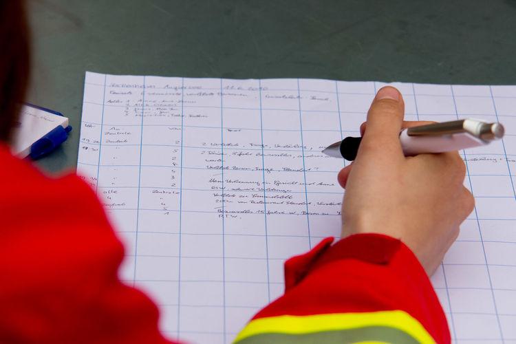 DLRG Exercise Funkpro Germany Lifeguard  Lifesaving Nackenheim Radio Record Rheinhessen Rheinland-Pfalz  Text Training Writing