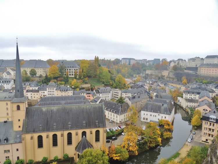 Architecture Building Exterior Built Structure City Cityscape Day Europe Europe Trip High Angle View Luxembourg Luxembourg Streetphotography Luxembourg_Collection Luxembourgcity Mountain Nature No People Outdoors Sky Travel Destinations Tree
