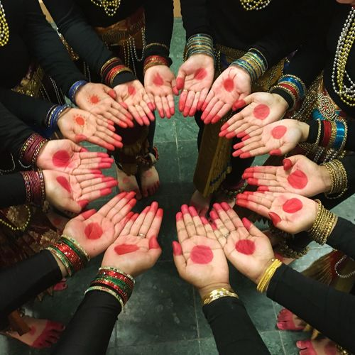 Beautiful Hands of Bharatanatyam Dancers demonstrating Unity and Togetherness