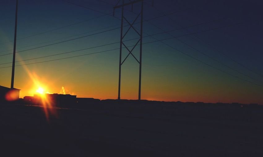 January 17, 2016 QVHoughPhoto FujiFilmX100 Fargo Northdakota Sunrise Powerlines Winter Cityscapes