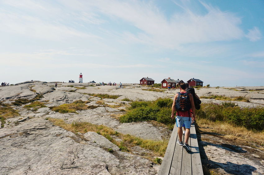 entering the Island of Hållö People Unrecognizable People Smögen Full Length Men Women Togetherness Young Women Beach Standing Walking Hiking Sky Rocky Mountains Horizon Over Water Coast Hiker Shore Scenics Rock Formation Tranquil Scene Idyllic Tranquility