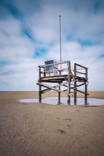 Beach hut on stilts