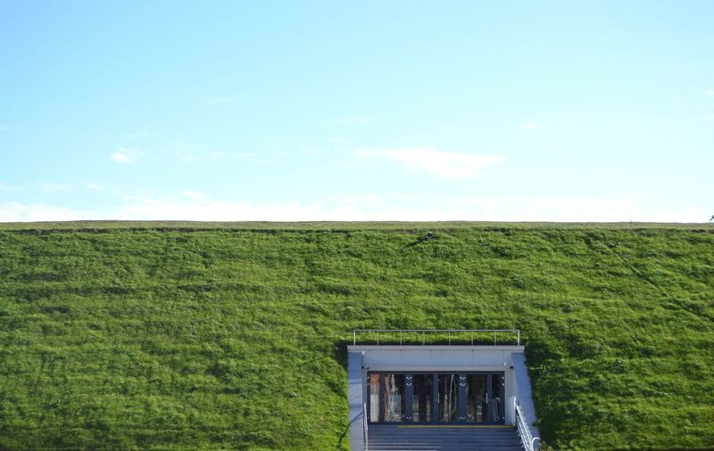 Door Doorway Grass Rural Scene Agriculture Field Crop  Farm Sky Landscape Grassland Closed Entryway Grass Area Entry
