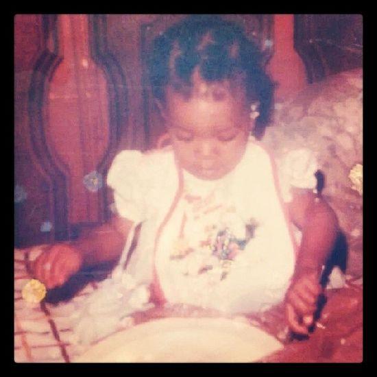 Omg..couldn't wait till tbt...just found this old photo of me....awww.....I I'm so cute... TBT  , Babyphoto , Socute , Babyphotos , adorable, babypic, brownskin, googoogaga, Polaroid, babypics, backintheday, polaroids
