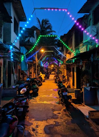 Early morning street view Teampixel Madebygoogle Mumbai GaneshChaturthi Lowlight ShotOnPixel Cellphone Photography Shotonphone Colorful Early Morning Street Light Electric Light