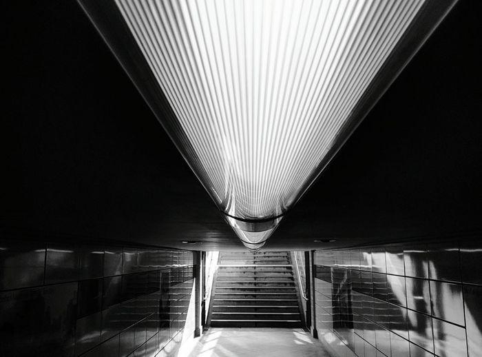 Day 284 - U-Bahn light Berlin Blackandwhite Lines Light 365project 365florianmski Day284