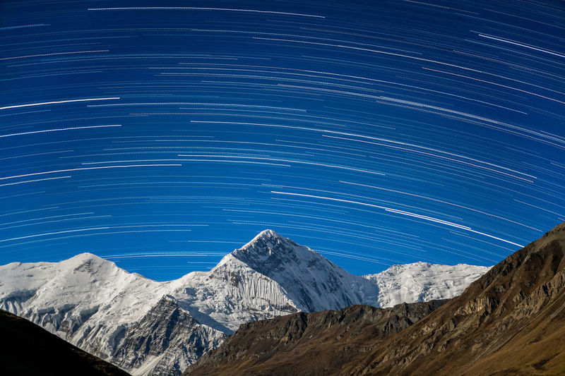 Annapurna High Resolution Himalayas Nature Nepal Travel Trekking Annapurnacircuit Landscape Long Exposure Majestic Moonlight Mountain Night Outdoors Star Trail Stars Startrails Supermoon