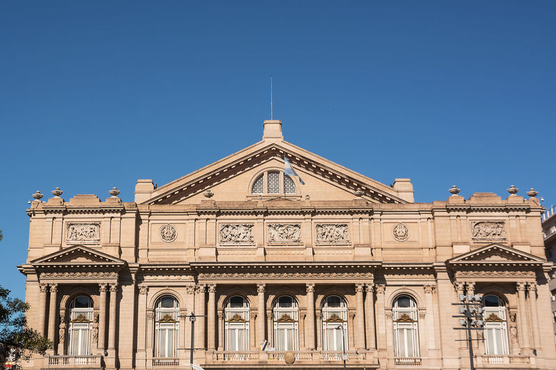 Facade of the Teatro Colon in Buenos Aires (Argentina) America Architecture Argentina Argentine Buenos Aires Building Capital Capital Federal Ciudad Autónoma De Buenos Aires Colon Columbus Columbus Theatre Landmark Metropolis NeoClassicism Opera House Opéra Sightseeing Street Theater Theatre Tourism Urban Venue