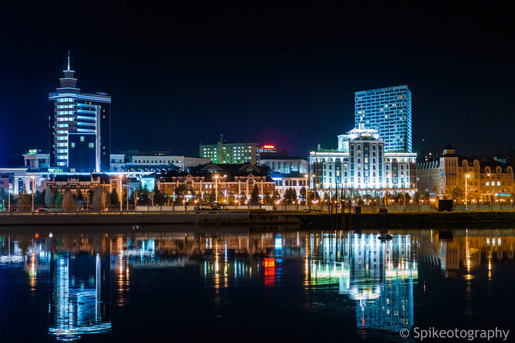 Night Building Exterior Reflection Built Structure Architecture Illuminated City Water Building Waterfront Sky Office Building Exterior Skyscraper Urban Skyline Travel Destinations Nature Landscape Modern Cityscape No People Outdoors Financial District  Nightlife First Eyeem Photo