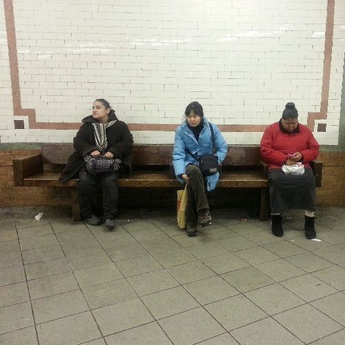 The only minority missing is white people. Race White Black Hispanic asian subway waiting doesnt matter Voyagerofworlds nyc manhattan instagramers igers followme picsta gf_nyc insta_mazing photooftheday bestoftheday Streetphotography instaandroid Androidographer instanewyork instamood igdaily bepopular tweegram instagram
