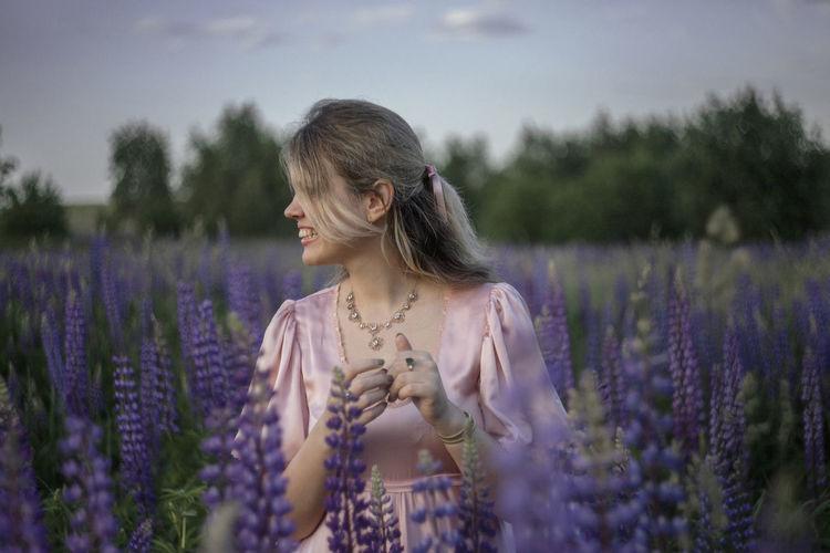 Beautiful girl in the field