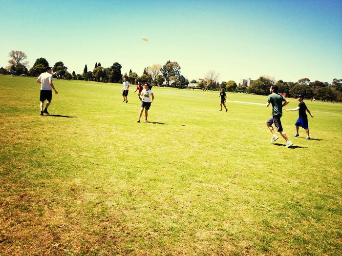 Great day for ultimate frisbee!