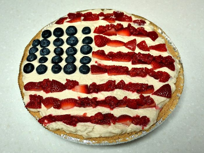 Happy Pi Day. American Flag Pie. Made by wife, consumed by me 😀 Banoffee Pie