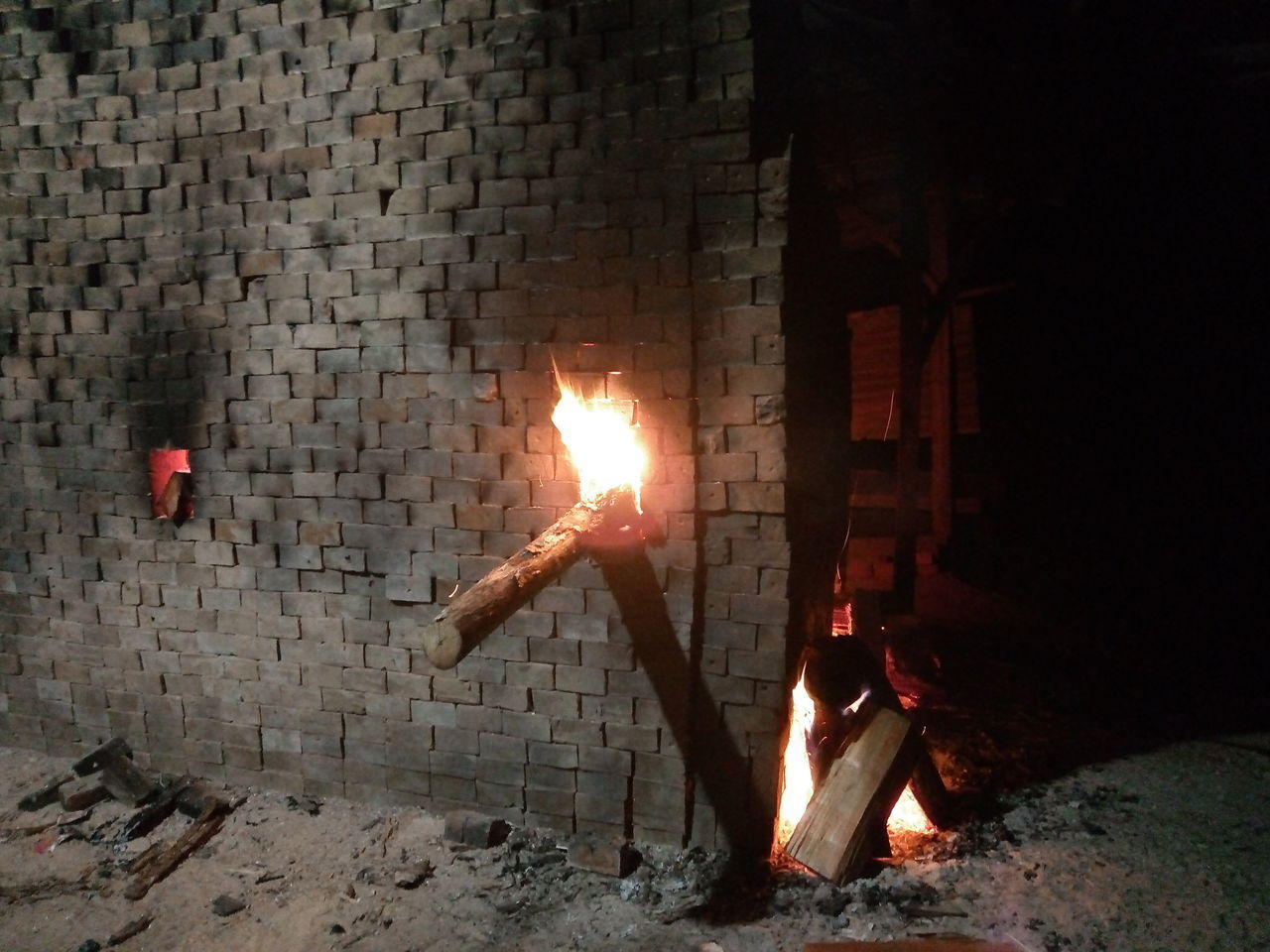 burning, heat - temperature, fire, flame, fire - natural phenomenon, illuminated, nature, glowing, night, firewood, log, wood - material, wood, no people, fireplace, motion, architecture, wall, built structure, environment