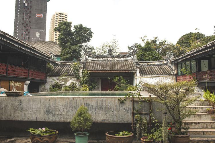 Exterior of city against sky