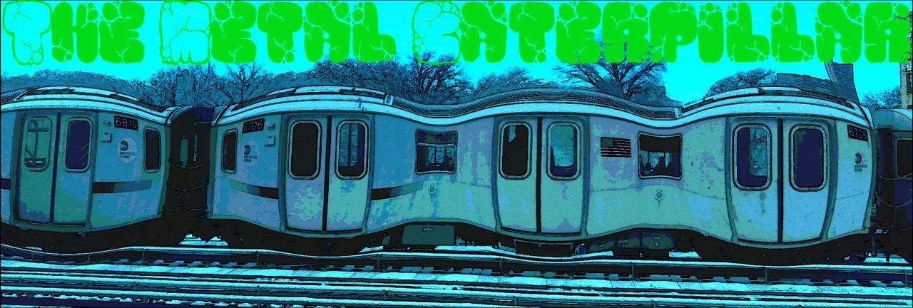 Metalcaterpillar Train Graffiti Graffiti Art Cartoonish Green Choo Choo Choochootrains Transit