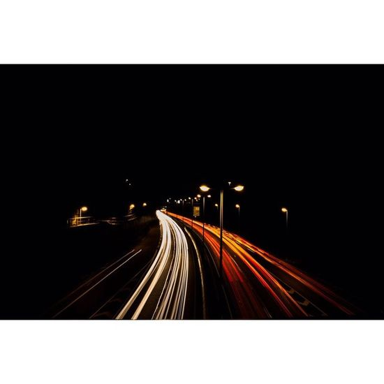 Dark Road Camera: Canon EOS 700D Lens: Canon 18-55mm f/11 30 sec 18mm ISO 100 Road Street Canon Canon_shoot CanonEOS700D ig_deutschland jaw_dropping_shots nice car cars autos instagram instagood germany deutschland augsburg b17