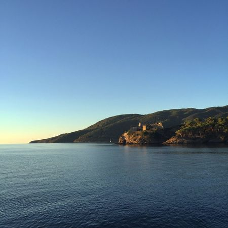Sea And Sky Blue Sea Tranquility Clear Sky Tranquil Scene Idyllic No People Outdoors Seascape Water Italy Amalfi Coast Built Structure Horizon Over Water Scenics Day Nature Sky Waterfront Travel