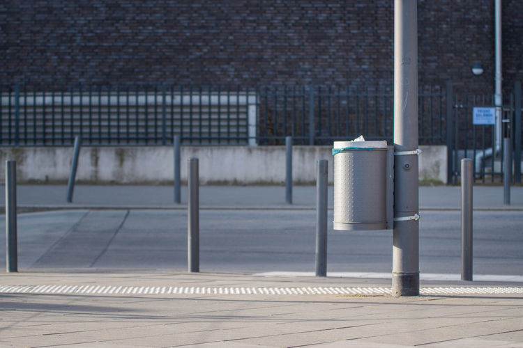 Architecture Built Structure Close-up Day Daytime Metal No People Outdoors Rubbish Street Trashcan Waste
