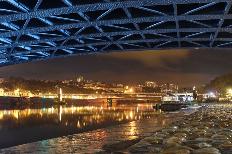 Long Exposure No People Outdoors Water Architecture Illuminated Reflection Night City River Lyon France EyeEmNewHere