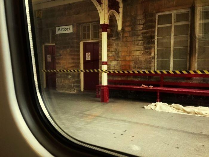 Hazard tape morning #dailycommute