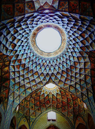 Kashan bazar ceiling views Kashan Architecture Indoors  Low Angle View No People Religion Built Structure History Day Kashanziba Kashaneveryday Iran