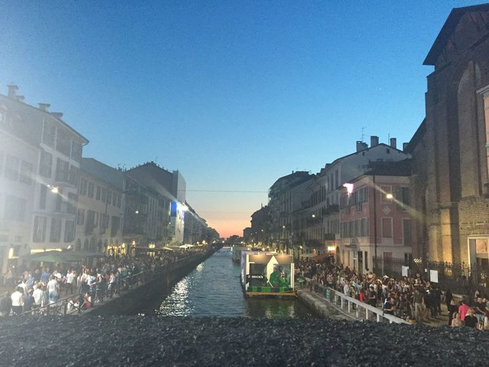 Milan Navigli Sunset Sky Beautiful