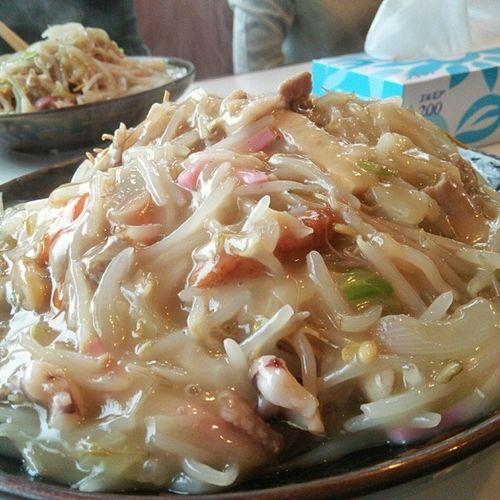 本日のランチは皿うどん! 皿うどん 長崎 ランチ 昼食 お昼ご飯 麺 lunch noodles noodle nagasaki japanesefood japanesecuisine