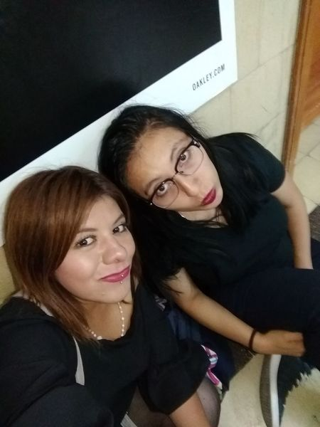 Friendship Young Women Togetherness Women Portrait Beautiful Woman Selfie Headshot Warm Clothing Business Finance And Industry