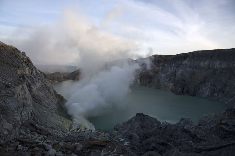 Beauty In Nature Day Environment Formation Geology Heat - Temperature Hot Spring Landscape Mountain Nature No People Non-urban Scene Outdoors Physical Geography Power In Nature Rock Rock - Object Scenics - Nature Smoke - Physical Structure Steam Tranquil Scene Volcanic Crater Volcano Water