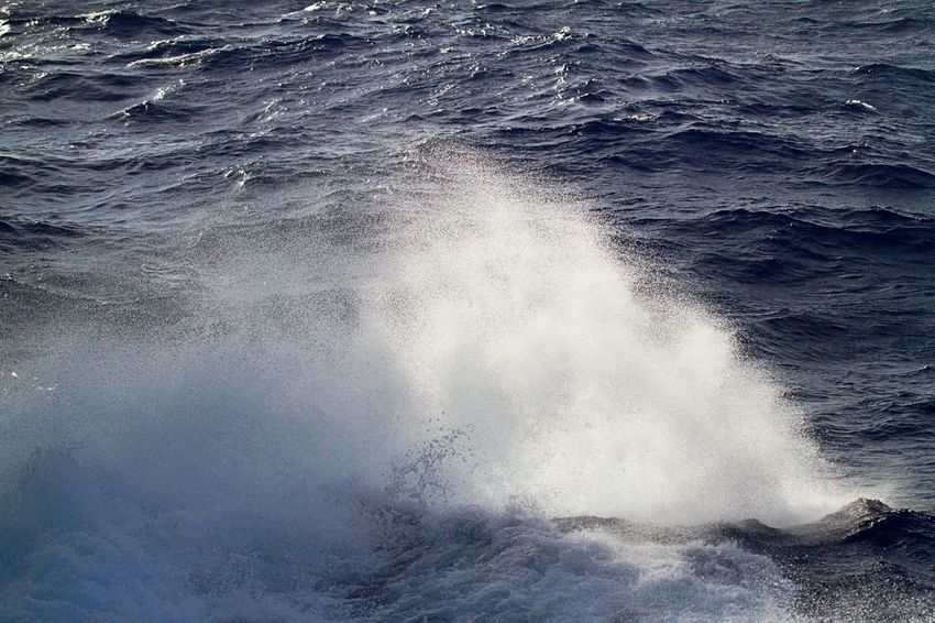 Beauty In Nature Crash Day Force Motion Nature No People Open Water Outdoors Power In Nature Rough Sea Water Wave