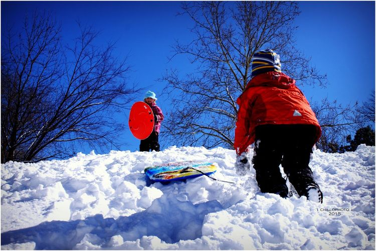 Kids Being Kids Kids&snow Brightcolors Check This Out Snow ❄ Tadaacomunity