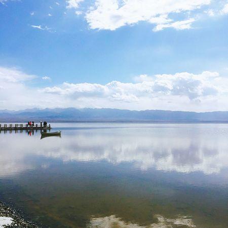 湖畔 茶卡盐湖 China View 青海省
