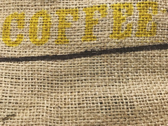 Sack Of Coffee Bag Of Coffee Bag Sack Text Coffee Textured  Full Frame Backgrounds Pattern Textile No People Close-up