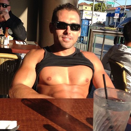 Talk about titties just hanging out.. Patiolife Lovetoeatout Workoutordie
