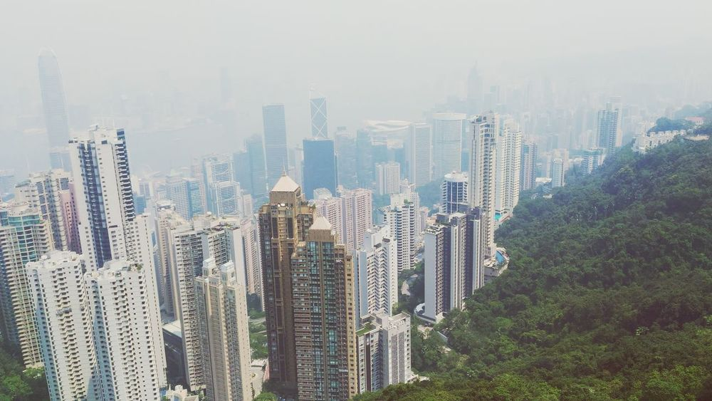 EyeEm Selects Skyscraper Cityscape Urban Skyline Architecture Aerial View Travel Destinations Fog No People Sky Nature Day Victoria Peak, Hongkong Trem Hong Kong City HongKong in this big world there is must be someone You designated for me..aamiin...I am just Your humble servant...please forgive me for my aarogance, please safe me for my mistakes...and please Love and Pure me ...