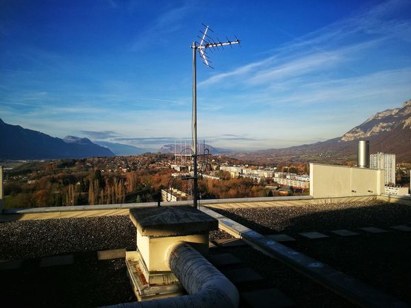 Mountain Cityscape Outdoors On The Roof Landscape Savoie