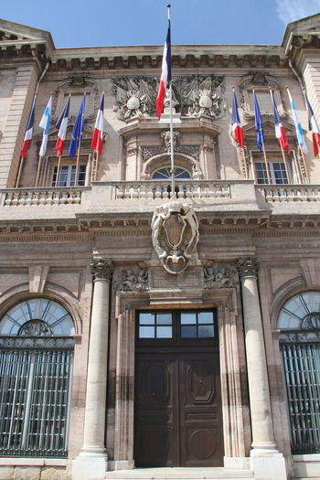 Marseille City Hall Architecture Art Art And Craft Building Building Exterior Built Structure City Hall Column Creativity Design Entrance Exterior French Flag Historic Marseille Ornate Ruined Safety Sculpture Statue Urban Wall